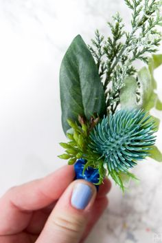 Winter Floral Boutonnieres