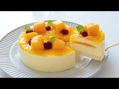 bánh xoài No-Bake Mango Mousse Cake|HidaMari Cooking Mango Mousse Cake, Mango Cheesecake, Mango Cake, Mango Recipes Baking, Gelatin Recipes, Cute Desserts, Delicious Desserts, Moose Dessert, Bakery Recipes