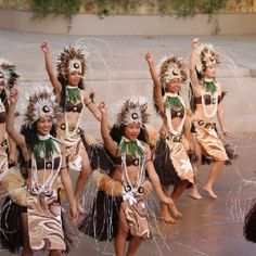 Tahitian Dancing at the Ford Amphitheater. I am on the left side.