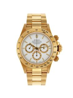 Vintage Watches Rolex 18k Yellow Gold Oyster Perpetual Cosmograph Red Daytona