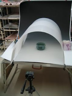This is a great idea for taking pottery photos.