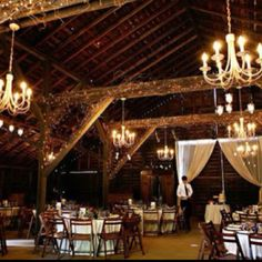 adore this. hippie wedding in a barn, please.minus the chandeliers.