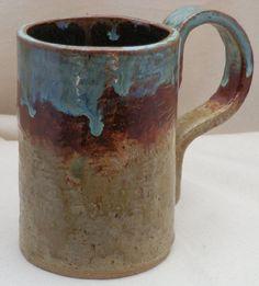 Stoneware  ExtraLarge Coffee MUG or Beer Stein in by LisaMelitaArt, $22.50