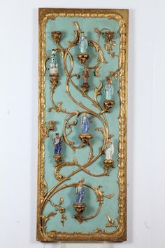 PAIR OF HANDSOME CELADON PAINTED ROCOCO STYLE/CHINOISERIE WALL PANEL... Lot 537A | eBay