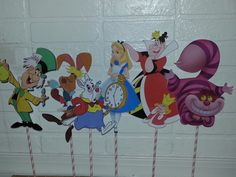 Alice in Wonderland Mad Hatter Centerpiece For Birthday Party Decor by PishPoshPartique on Etsy