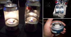 Cómo hacer una lámpara ¡con una lata de refresco!
