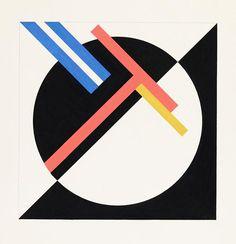 Walter Dexel - Mit rotem T und zwei blauen Streifen