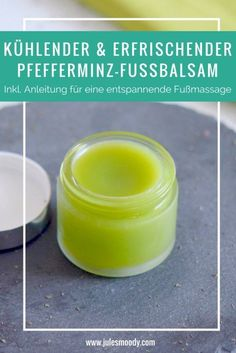 Cooling peppermint foot balm - makes tired feet awake again! - Cooling and refreshing peppermint foot balm – ideal for tired feet or to cool off in summer! Natural Skin, Natural Health, Advantages Of Green Tea, Diy Beauté, Salud Natural, Tired Feet, Anti Aging Tips, Belleza Natural, Medicinal Plants
