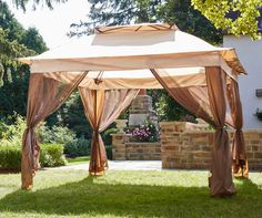 Pop-up canopies are perfect for tailgating, camping, or hosting a backyard party. Find a deal on a pop-up canopy, pop-up gazebo, or sun shelter at Big Lots. Backyard Canopy, Garden Canopy, Canopy Outdoor, Backyard Landscaping, Backyard Ideas, Outdoor Gazebos, Backyard Patio, Gazebo Ideas, Deck Canopy