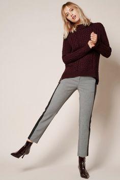 Rosner Damen Stoffhose Alisa_302 Grau | SAILERstyle Trends, Elegant, Designer, Turtle Neck, Pullover, Sweaters, Fashion, Fashion Styles, Cloakroom Basin