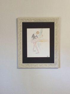 Original watercolor painting girl's room nursery by AnneLeeStudio