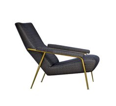 Designed by Gio Ponti in 1953, D.153.1 is an armchair with frame in solid Fir (Picea abies) with elastic straps, covered in custom polyurethane in different thicknesses, structure finish in brass frame and Fabric cover in Punteggiato Velvet (non removable). This armchair is a true masterpiece. It is characterised by an unmatched and timeless aesthetic quality. Its precious cover in Fabric, designed by Gio Ponti in 1934, reinterprets the age-old technique of velvet-weaving, updating it with…