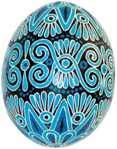 Sun Flower and Spiral Ukrainian Pysanka Easter Egg by sgriska, $40.00