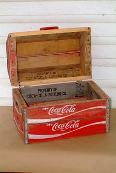 I SO need this! Its a Custom Chest built from Wooden Coke Crates