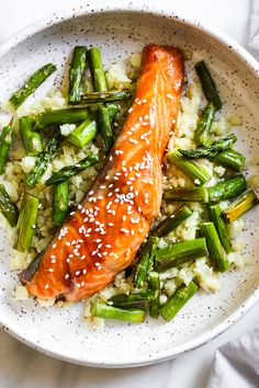 Honey-Teriyaki Salmon with Cauliflower Rice