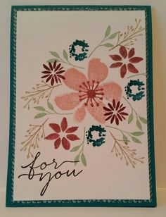Stampin with Karen Spreckley: Stampin up Blooms and Wishes