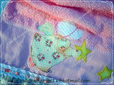 Toalha para lavado, feita com técnica de patch aplique. R$ 34,00