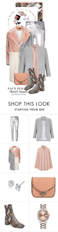 """""""Faux Fur Coats"""" by shortyluv718 ❤ liked on Polyvore featuring Børn, Étoile Isabel Marant, Miss Selfridge, Topshop, Uniqlo, Valentino, Rolex, contestentry and fauxfurcoats"""