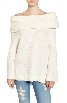 Free shipping and returns on Sun & Shadow Cowl Off the Shoulder Sweater at Nordstrom.com. A cotton-blend sweater in an extra-chunky knit is crafted with a drapey off-the-shoulder neck and a swingy silhouette that's split at the sides to ease the fit.