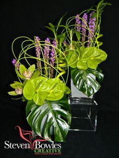 Tropical flower arrangement designed by Naples, Florida Florist/Event Designer, Steven Bowles Creative.  www.stevenbowlescreative.com