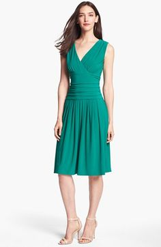 even jade would be amazing for you. Eliza J Sleeveless Ruched Matte Jersey Dress available at #Nordstrom
