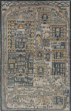Pichwai Paintings, Jain Temple, Pilgrimage, Indian Art, Middle Ages, City Photo, Mandala, Miniatures, Religion