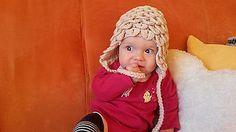 Detské čiapky - Béžová krokodílka - 6159629_