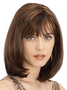 Celine Wig by Louis Ferre: Classic bob beautifully cut to fall just onto the shoulders. A light fringe finishes the hairstyle perfectly.