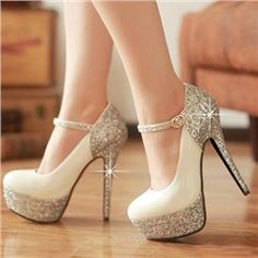 Shop Shining All-matched Stiletto Heels Closed-toe Platform Pumps on sale at Tidestore with trendy design and good price. Come and find more fashion Pumps here. Glitter High Heels, Black High Heels, Lace Up Heels, Pumps Heels, Stiletto Heels, Sparkly Heels, Glitter Shoes, Black Shoes, Silver Heels