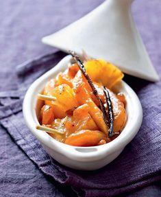 Tajine de mangue et ananas aux fruits secs