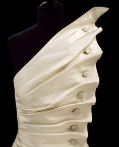 Anthony Price's asymmetrical silk taffeta bird's wing dress (1986)