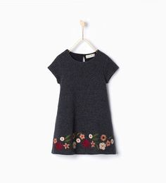 Image 1 of Embroidered wool dress from Zara