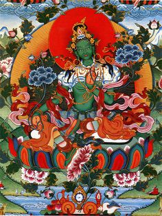 "Know your Buddhas: Tara This is the ""Green"" form of Tara; The Mother of all Buddhas and the Buddha of compassion in action to relieve physical emotional and spiritual suffering. Tara may appear in any of 21 forms and is one of the most beloved of all the Buddhas"