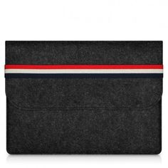 Three Striped Felt Macbook Sleeve - Simply Only Macbook Sleeve, Travelling, Minimalism, Card Holder, Felt, Wallet, Lifestyle, Business, Sleeves