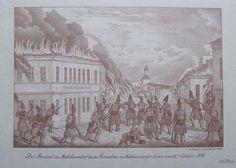 FRANZ WERNER Brand in Matzleinsdorf Faksimile Revolution 1848 Wien
