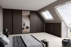 More room from your room: raumplus Home Design, Kitchen Fitters, Clothes Rod, Beautiful Closets, Sliding Door Systems, Build A Closet, Brown Interior, Attic Spaces, Modern Wardrobe