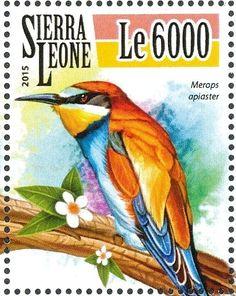 Známky: European Bee-eater - Merops apiaster (Sierra Leone) (Bee-eaters) Mi:SL 6526