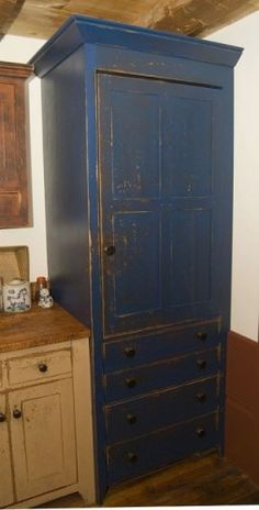 Hidden refrigerator   Workshops of David T. Smith  Reproduction Peoria, IL. Saltbox House traditional
