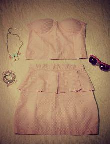 #polka-dottopandskirt #pinkandwhite by @Agostina Nikolaus