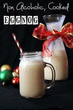 The Stay At Home Chef: Non-Alcoholic Cooked Eggnog.. no alcohol and fully cooked so I can even have it while pregnant? Sounds wonderful.
