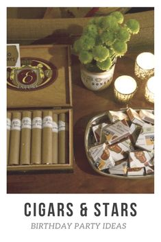 Cigars And Stars Birthday Party