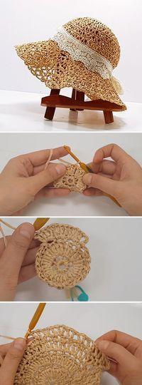 New Absolutely Free Crochet Hat tutorial Tips Häkeln Hut Tutorial – Design Peak / Mode Crochet, Diy Crochet, Crochet Crafts, Yarn Crafts, Crochet Projects, Crochet Summer Hats, Crochet Cap, Diy Crafts, Knitting Projects