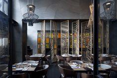 Restaurant lumineux à la décoration asiatique