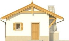 DOM.PL™ - Projekt domu KR DOMEK 6 CE - DOM KR5-83 - gotowy koszt budowy Gazebo, Pergola, Outdoor Structures, Facades, Home Decor, Houses, Small Apartment Plans, Kiosk, Decoration Home