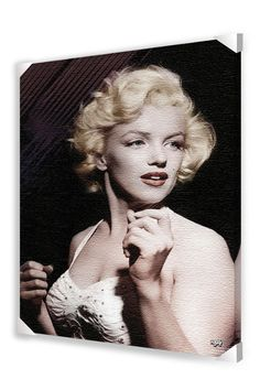 "Pyramid 24""H Marilyn Monroe: White Dress Framed Poster"