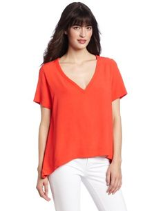 TEXTILE Elizabeth and James Womens Dale Top, Poppy, X-Small