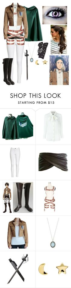 """""""Private attack on Titan rp"""" by gglloyd ❤ liked on Polyvore featuring Gucci, Armenta, Erica Weiner, KD2024, women's clothing, women, female, woman, misses and juniors"""