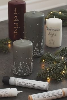 CREATE PERSONAL CANDLES WITH DECORATIONS