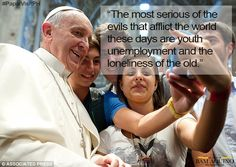 Pope Francis on Youth Unemployment