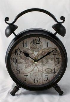 "ceas de masa retro ""World Map"" Alarm Clock, Retro, Home Decor, Projection Alarm Clock, Decoration Home, Room Decor, Alarm Clocks, Retro Illustration, Home Interior Design"